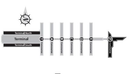 アトランタ空港全体図
