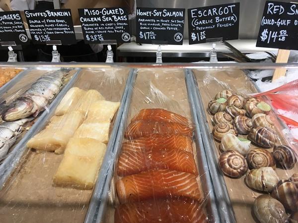 チェルシーマーケットの魚介類