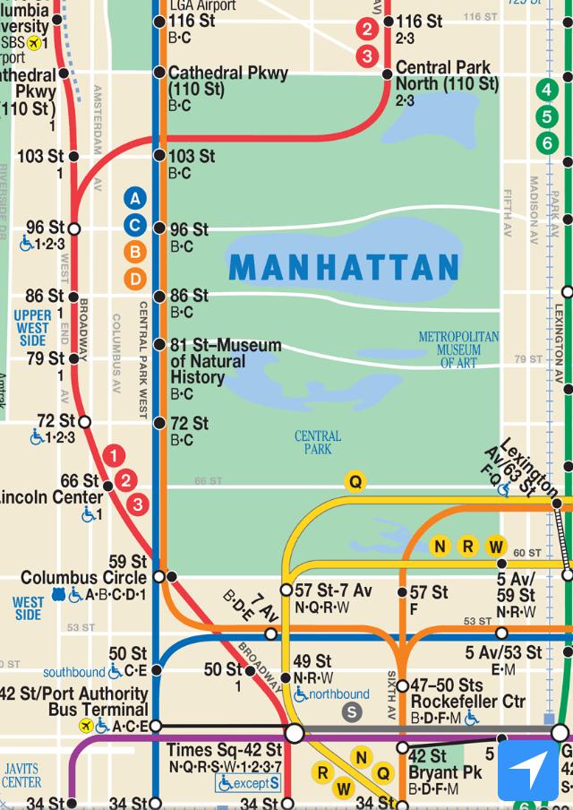 ニューヨーク地下鉄路線図