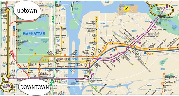 ニューヨーク地下鉄路線図⑦