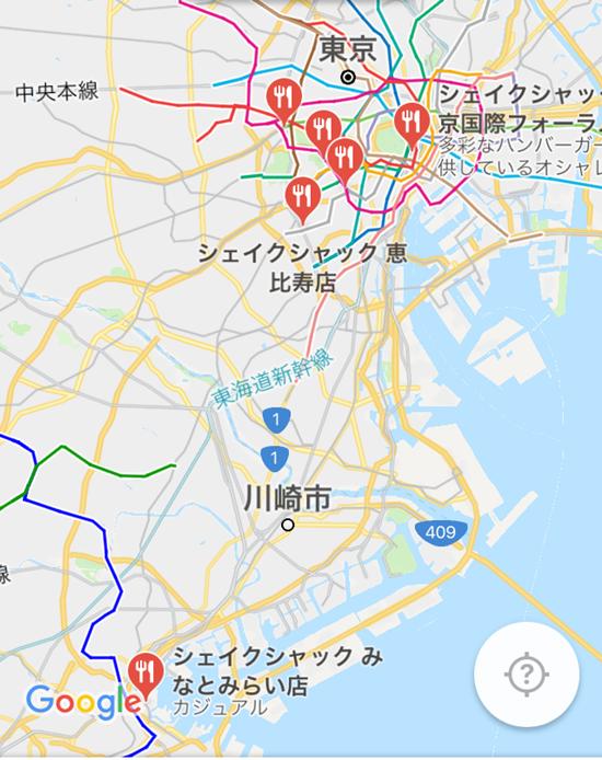 東京にあるシェイクシャック