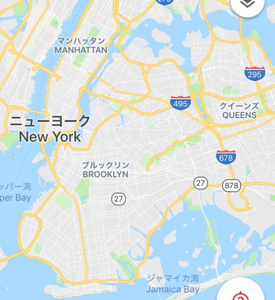 マンハッタンとブルックリンの位置