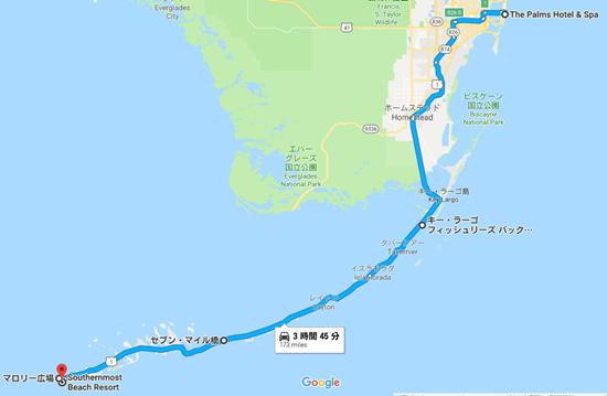 マイアミ旅行地図