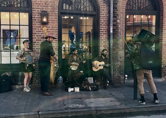 ニューオリンズストリートミュージシャン